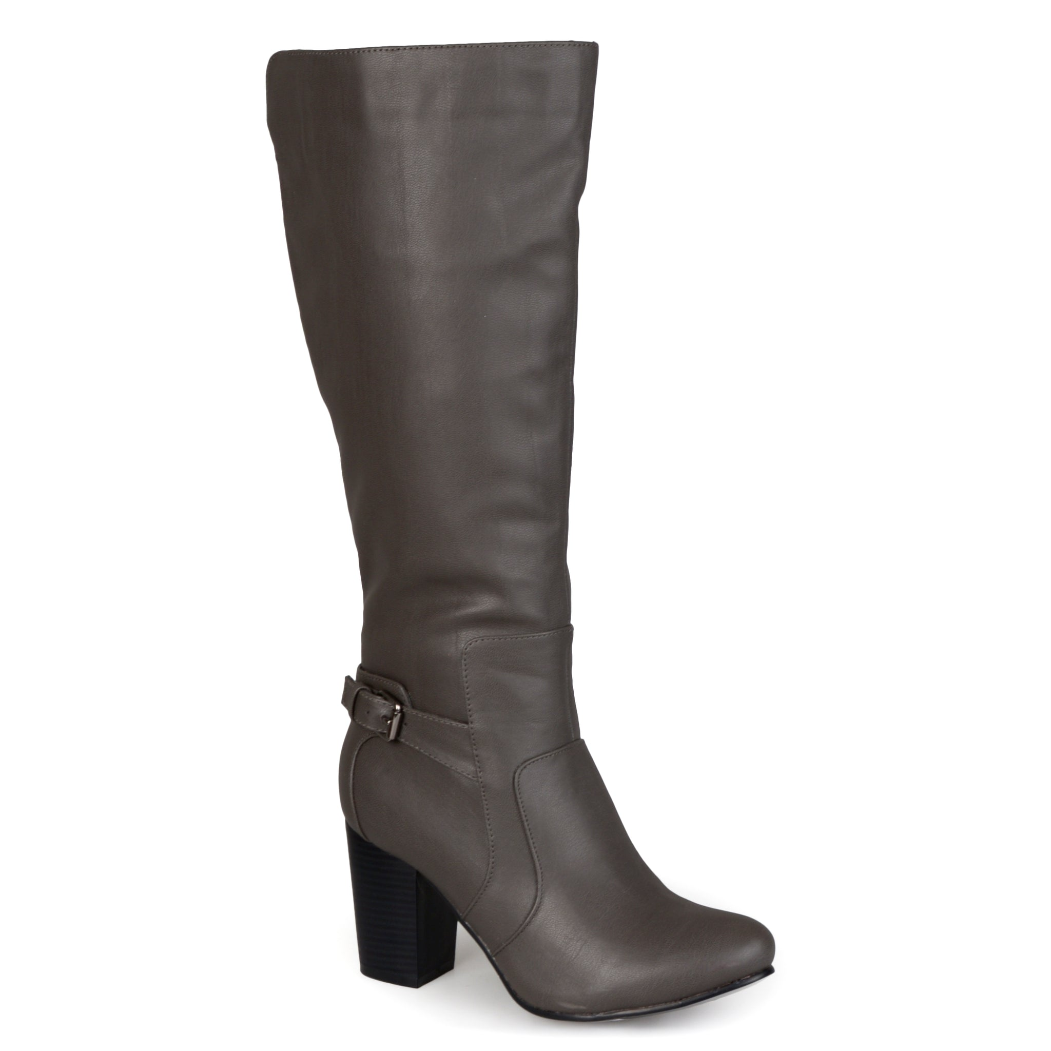 Buckle Detail High-Heeled Boot