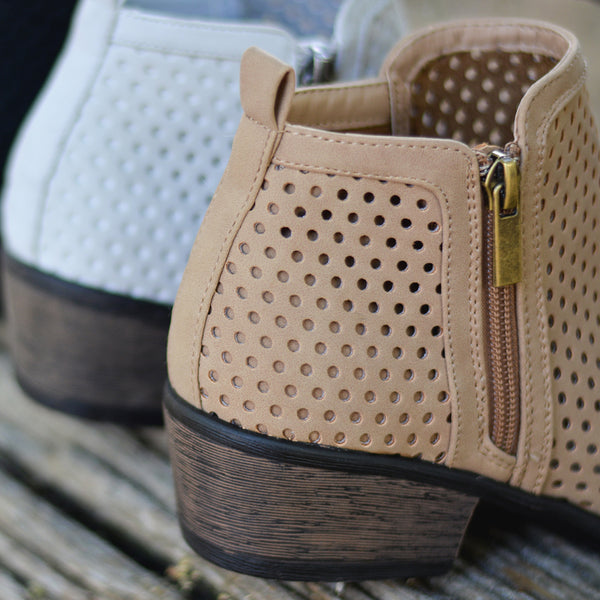 Laser-cut Side Zip Booties