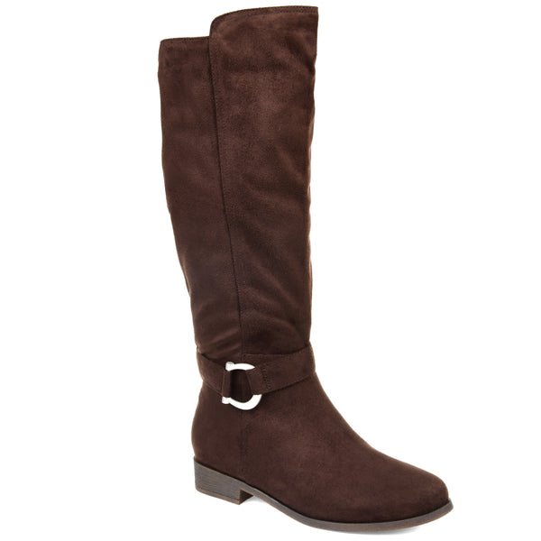 Micro-Suede Buckle Strap Boot
