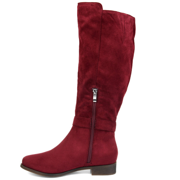 Micro-Suede Buckle Strap Boot Extra Wide Calf