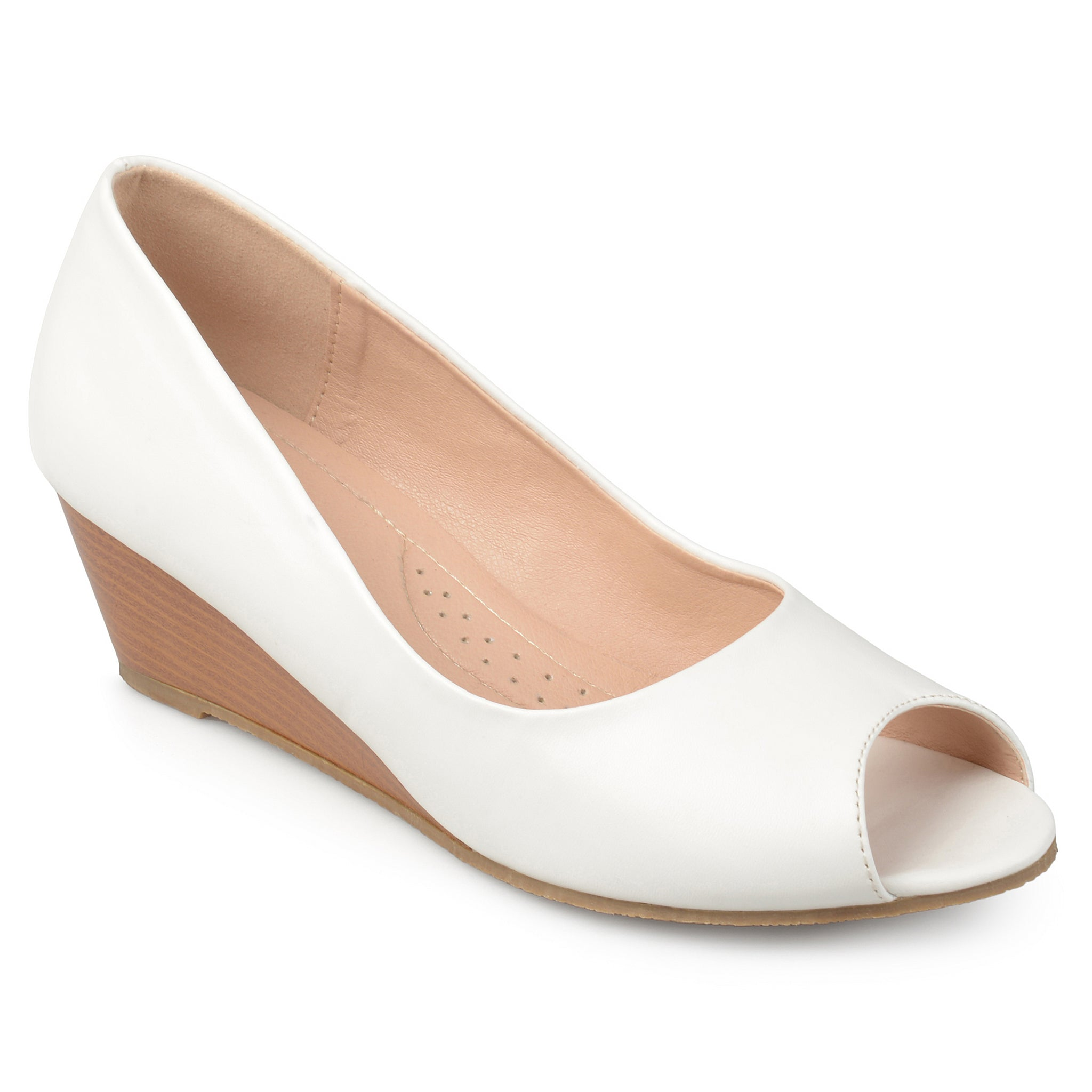 Peep-toe Comfort-sole Wedges