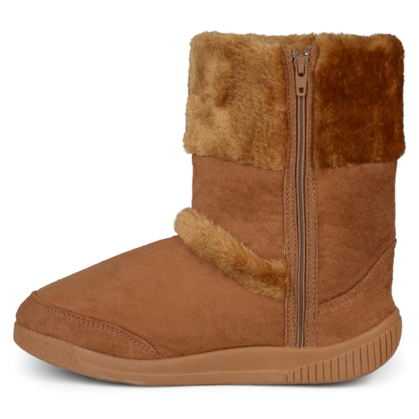 Faux Fur Trim Boots
