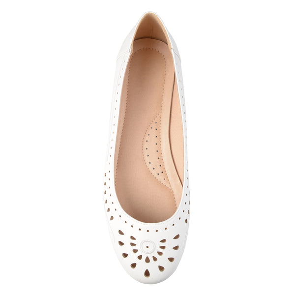 Lightweight Laser-cut Embroidered Comfort-sole Flats