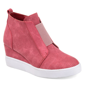 Lasercut Fashion Wedge Sneaker