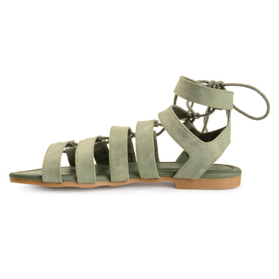 Strappy Caged Gladiator Sandals