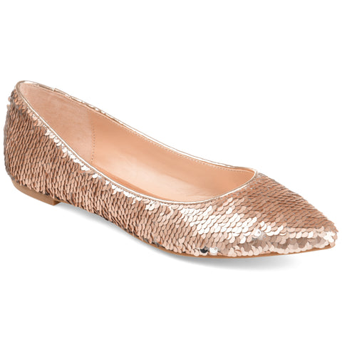 Mermaid Sequin Pointed Toe Flat