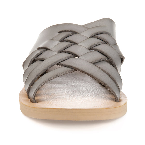 Basketweave Slip-on Sandal