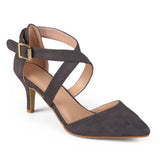 Dara Faux Suede Cross Strap High Heels
