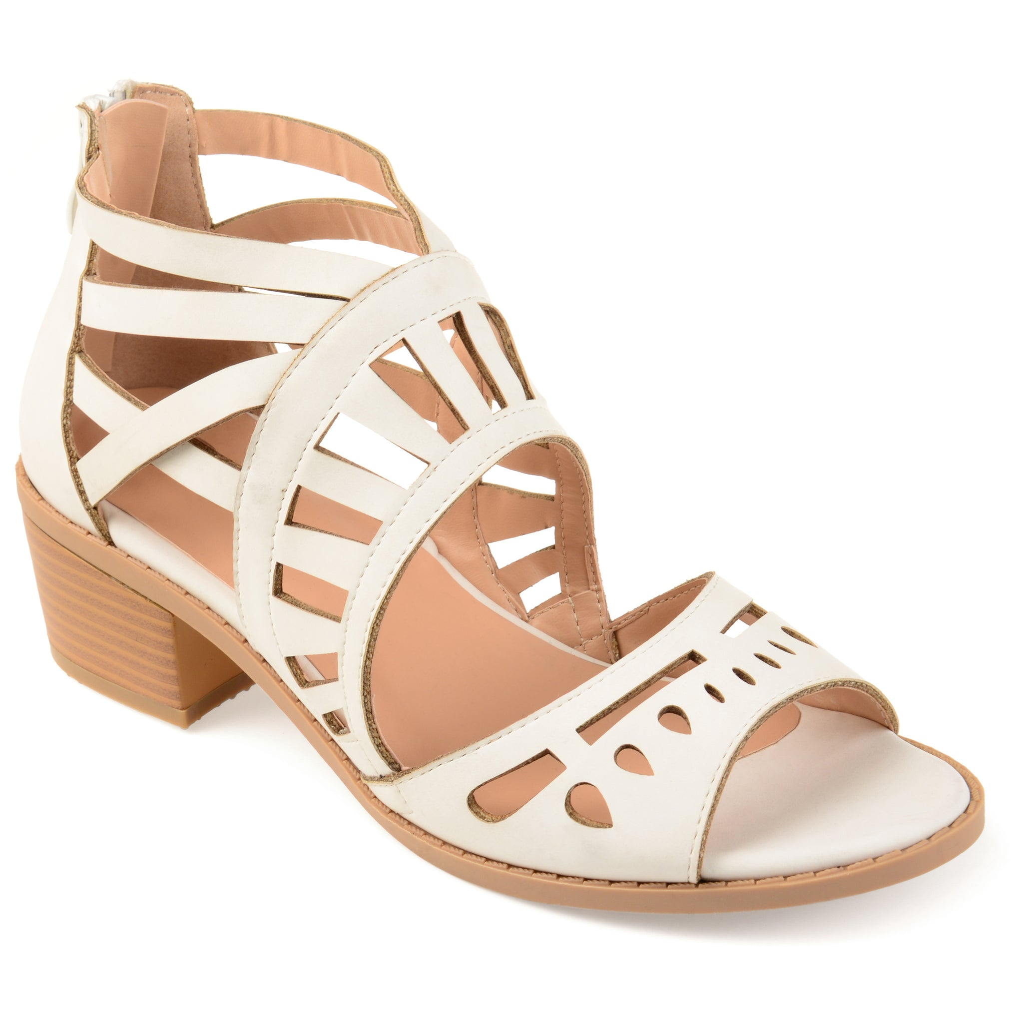 Open Toe Geometric Cut-Out Heel