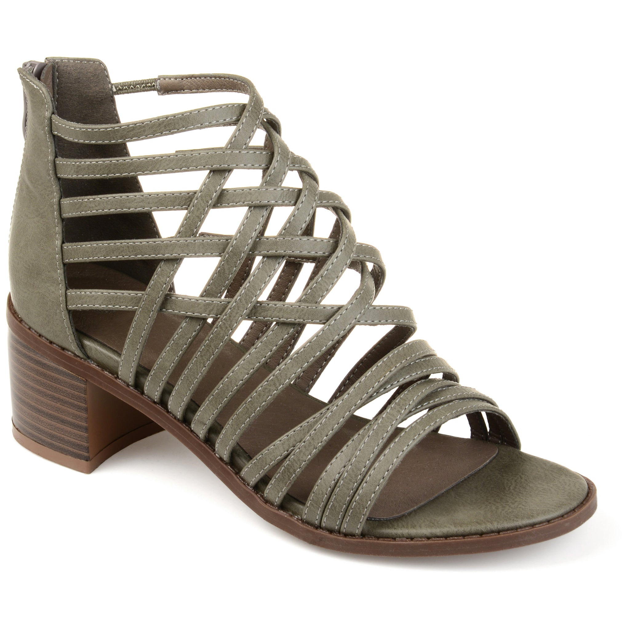 Criss-cross Caged Heeled Sandals