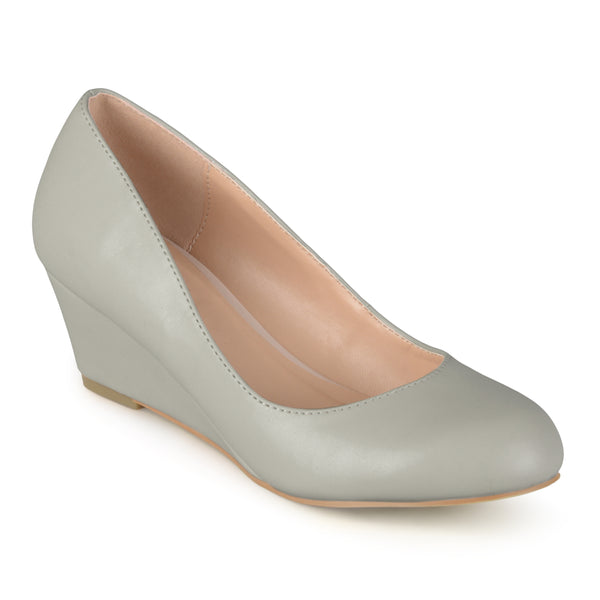 Round Toe Wedge Heel