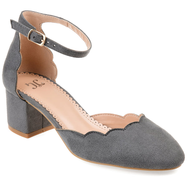 Scalloped Edge Round Toe Heel