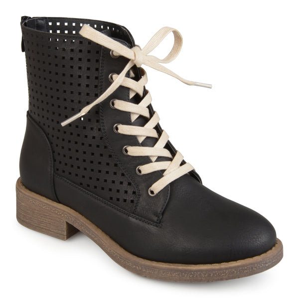 Lace-up Laser-cut Boots