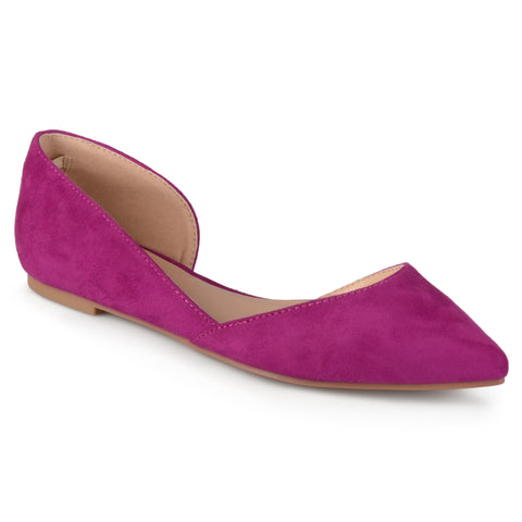 Faux Suede D'Orsay Flats