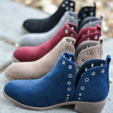 Side Slit Stud Booties