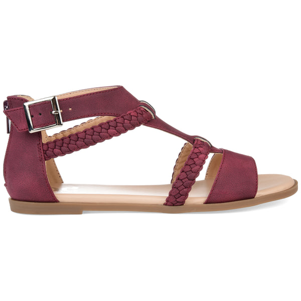 T-strap Braided Sandal