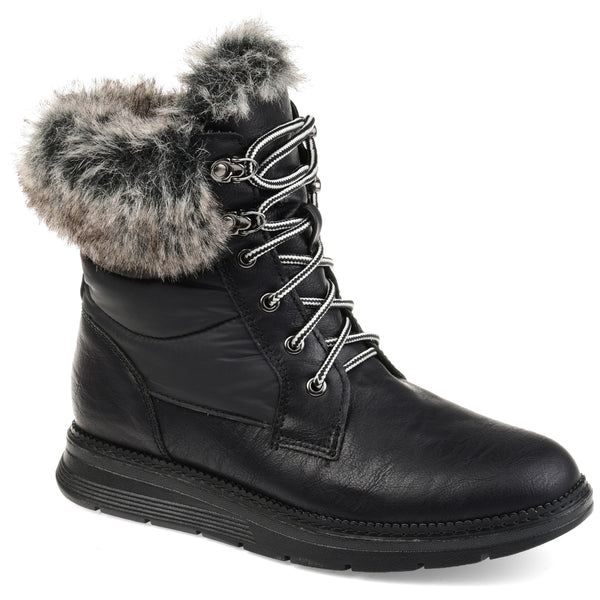 Waterproof Faux Shearling Snow Boot