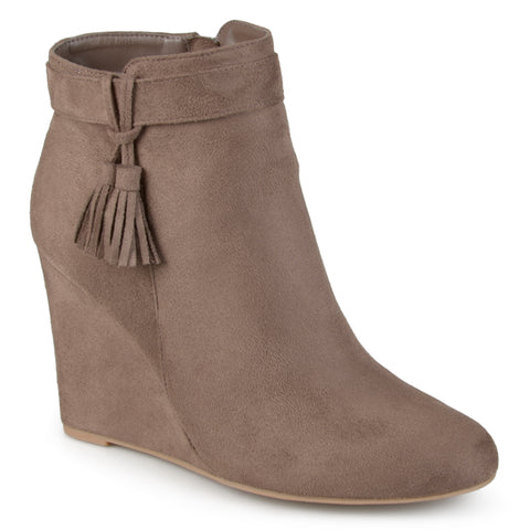 Tasseled Wedge Booties