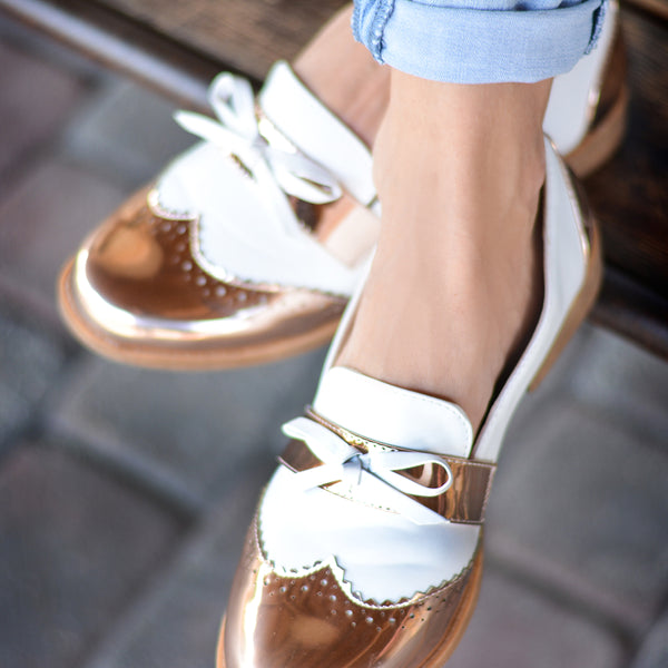 Wingtip Bow Loafers