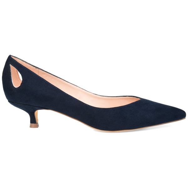 Cut-out Kitten Heel Pump