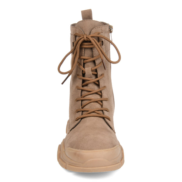 Lace-up Accent Combat Boot