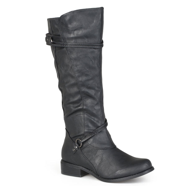 X-Wide Calf Knee-High Strap Riding Boot