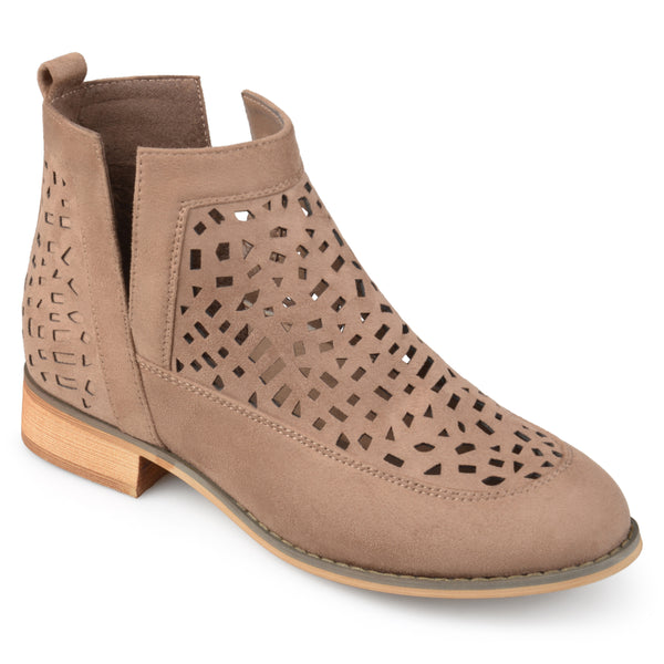 Side Split Geometric Laser Cut Booties