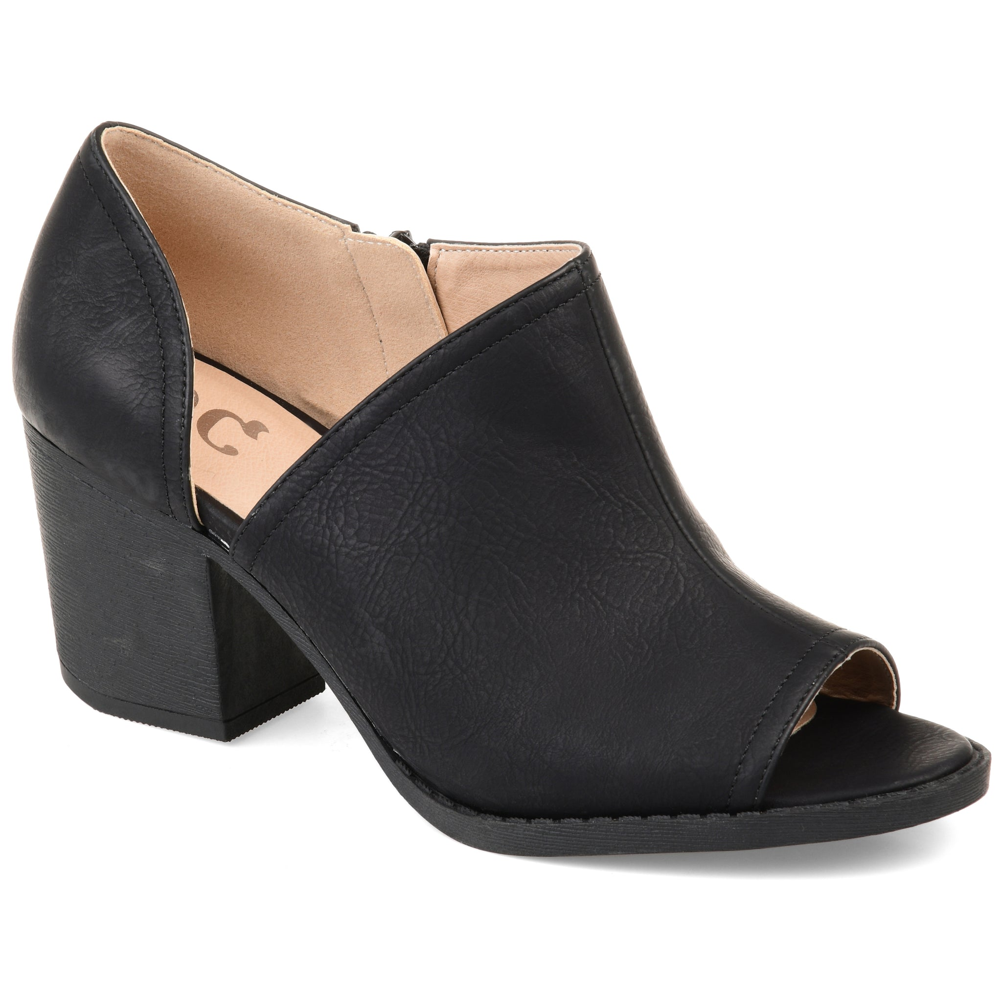 Peep-Toe Side Cut-out Bootie