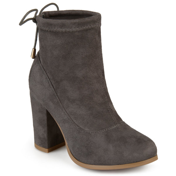 Faux Suede High Heel Booties