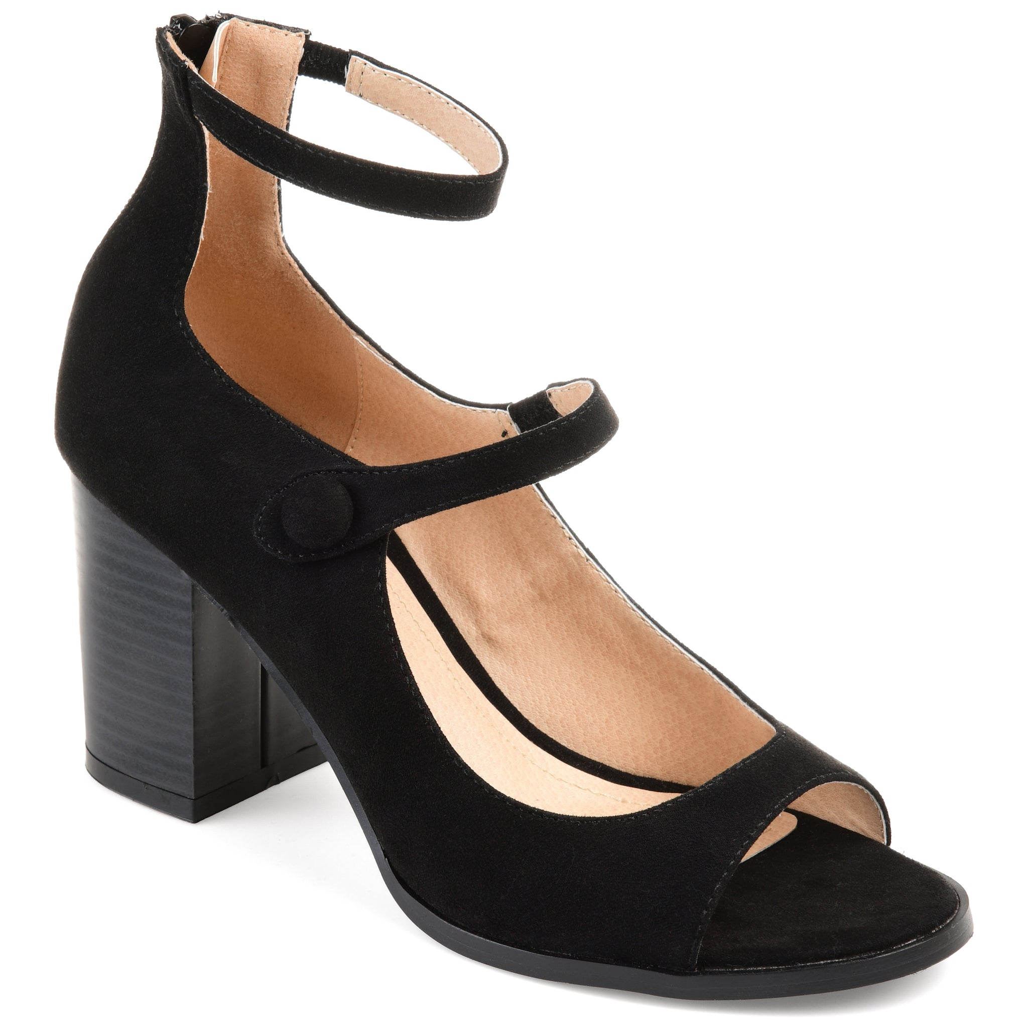 Strappy Open Toe Block Heel