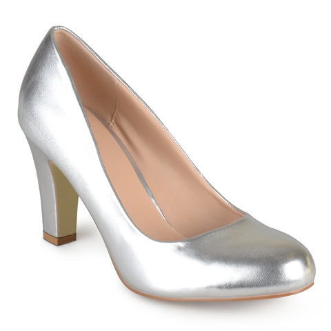 Patent Leather Chunky Heel Pumps