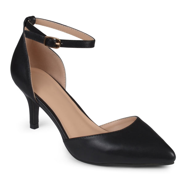 Matte Ankle Strap Pumps