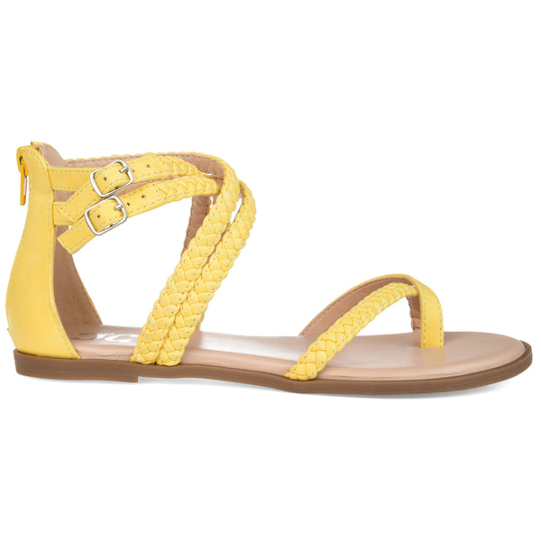 Womens Braided Flat Sandal