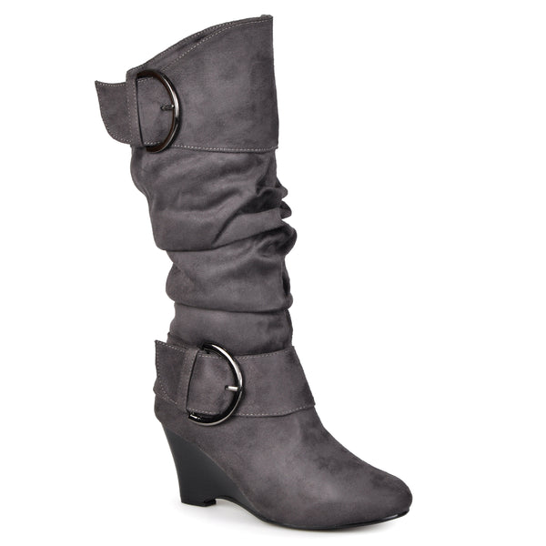 Slouch Wedge Knee-High Boot