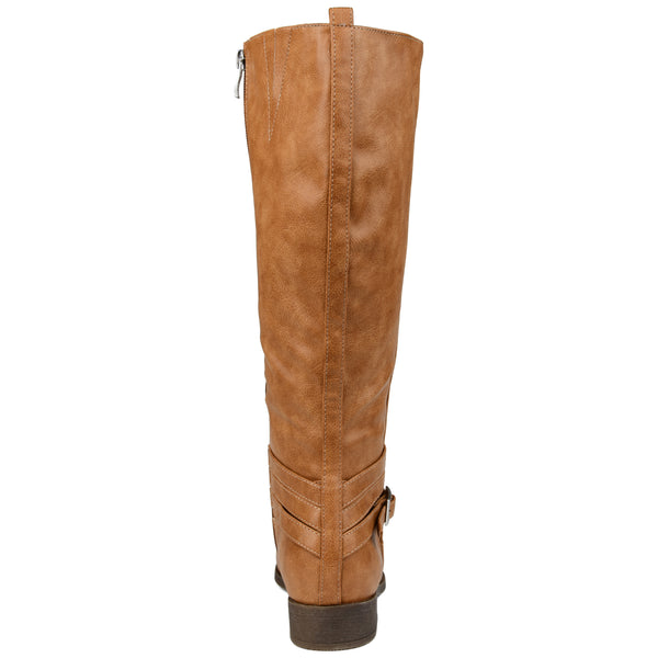 Timeless Buckle Wrap Riding Boot Extra Wide Calf