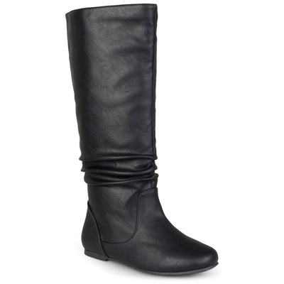 Slouch Faux Leather Knee-High Boot
