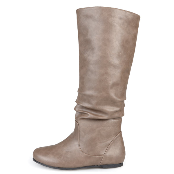Slouch Faux Leather Knee-High Wide Calf Boot