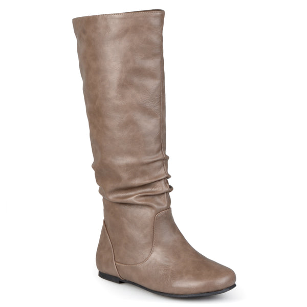 X-Wide Calf Slouch Faux Leather Knee-High Boot