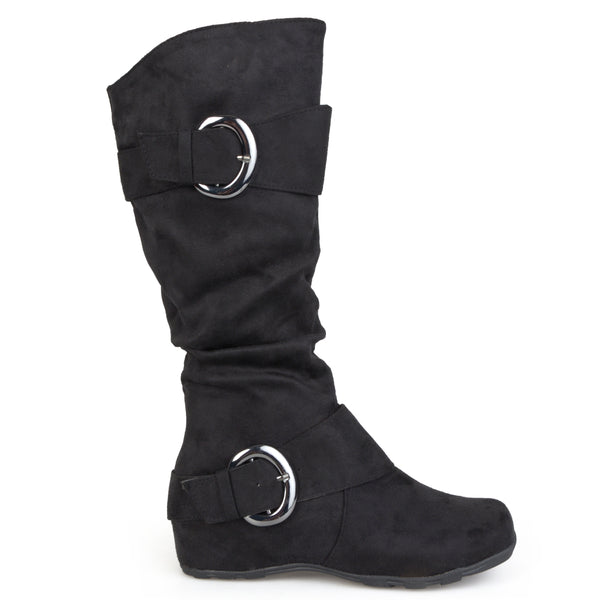 Slouch Knee-High Microsuede Wide Calf Boot