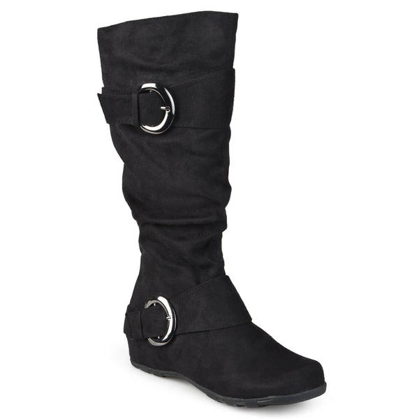Xwide Calf Slouch Knee-High Microsuede Boot
