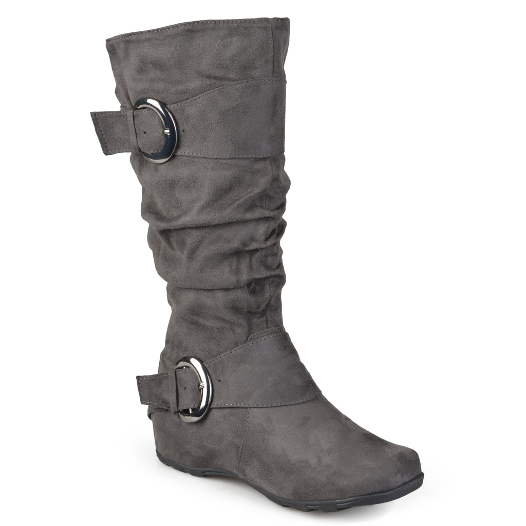 Extra Wide Calf Slouch Mid-calf Riding Boots