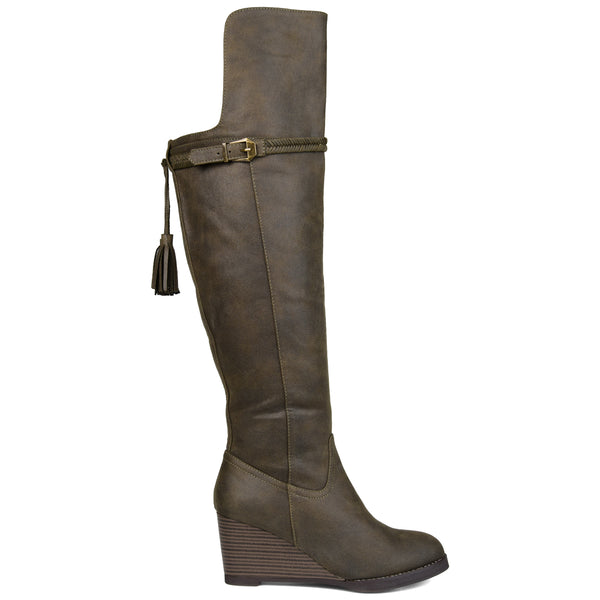 Over-the-Knee Wedge Boot