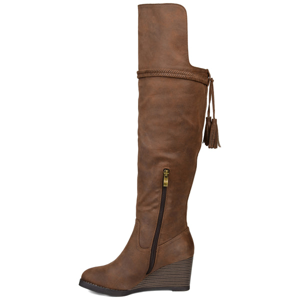 Over-the-Knee Wedge Boot Extra Wide Calf