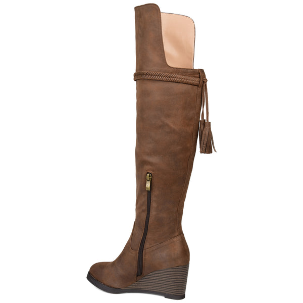 Over-the-Knee Wedge Boot Wide Calf
