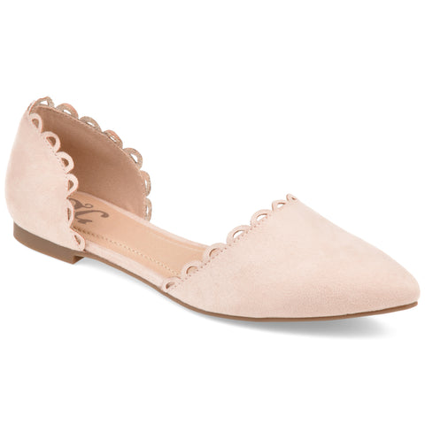 Almond Toe Scalloped Flat