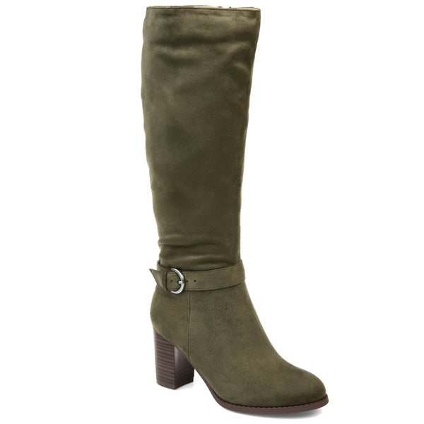 Ankle Buckle Accent Heeled Boot