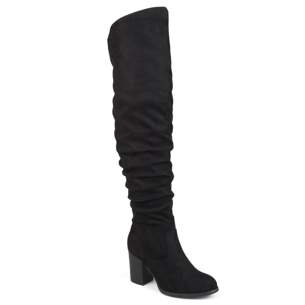 Ruched Over-The-Knee Heeled Boot