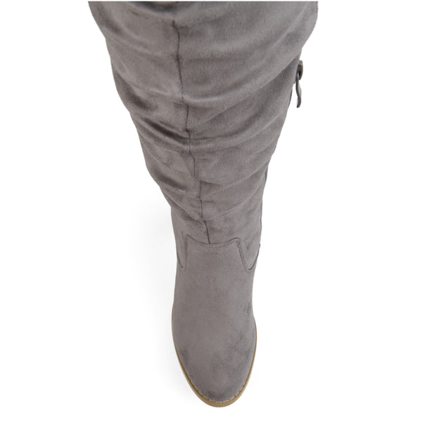 Ruched Over-The-Knee Heeled Extra Wide Calf Boot