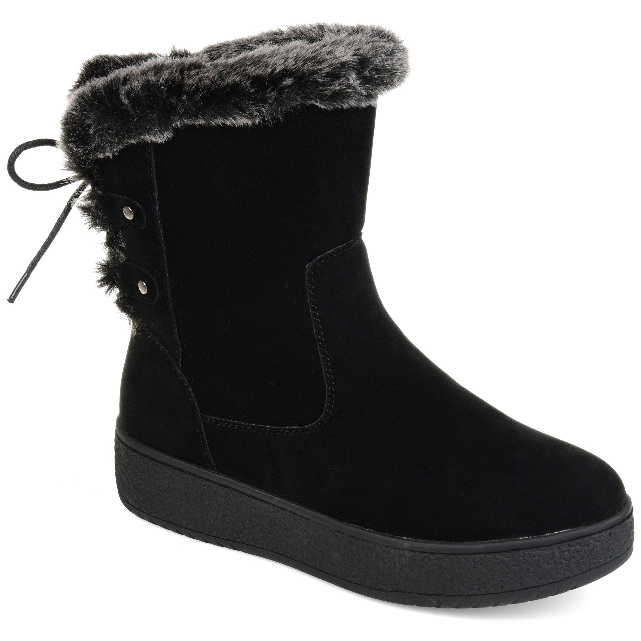 Faux Shearling Lace-Up Boot