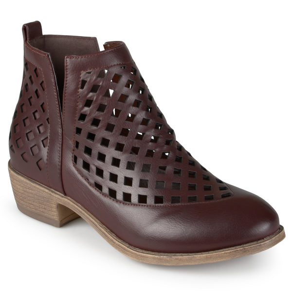 Cut-out Caged Ankle Booties